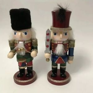 COPY - christmas Nutcrackers Set Of Two 10. 1/2IN